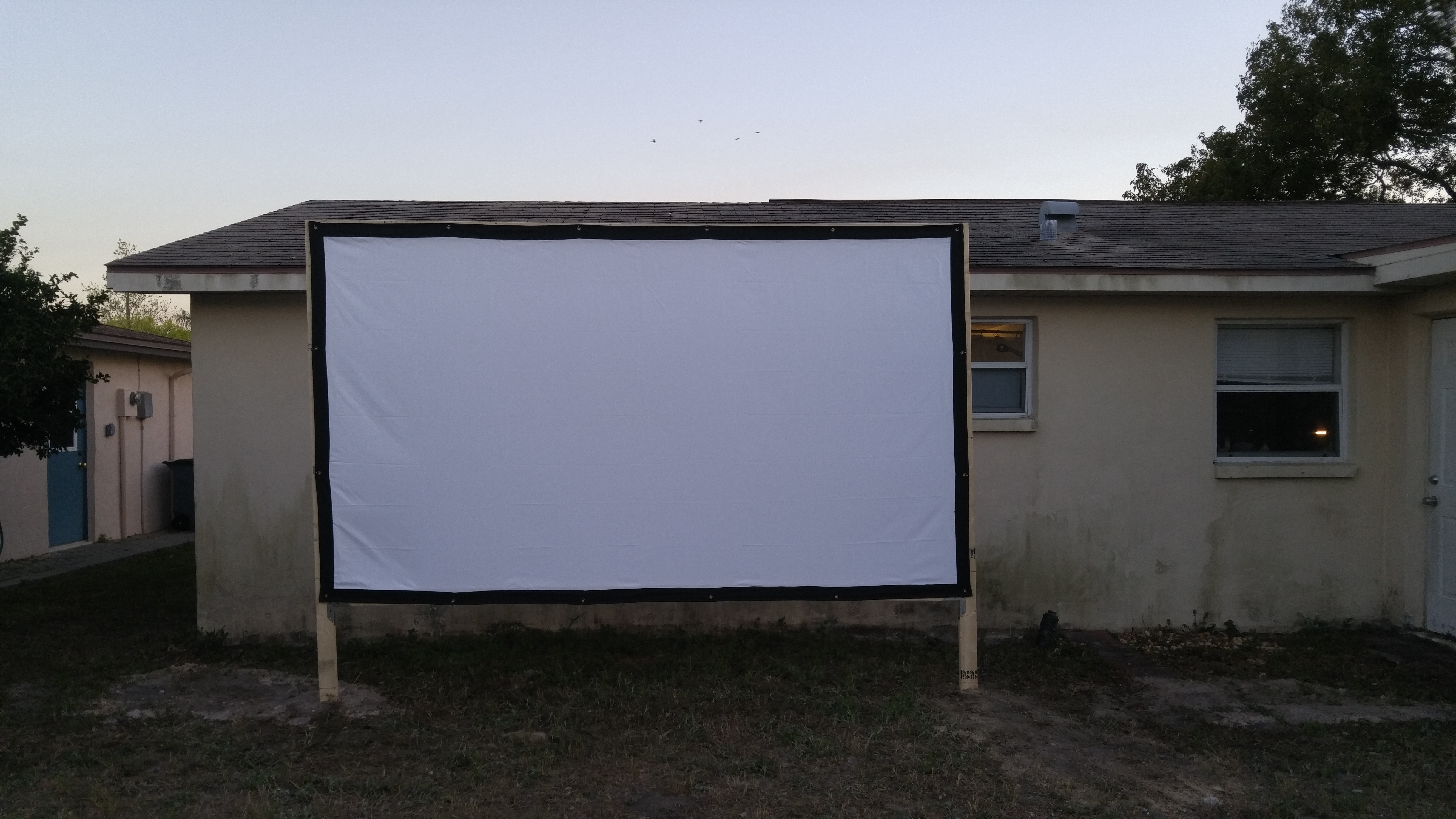 Backyard outside Home Theater on the cheap  – Salvatore's Place