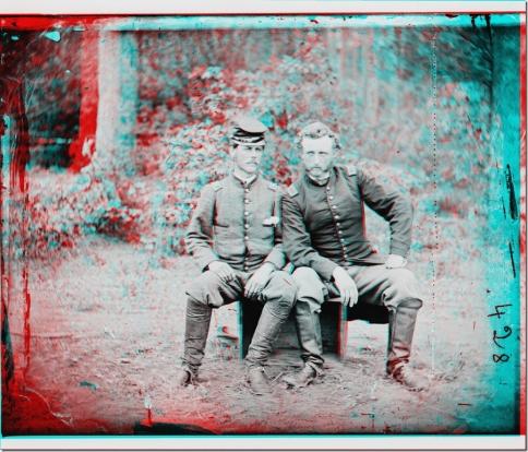 Civil War 3d custer_prisoner_anaglyph1