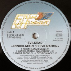 Evildead Annihilation of Civilization Vinyl 1